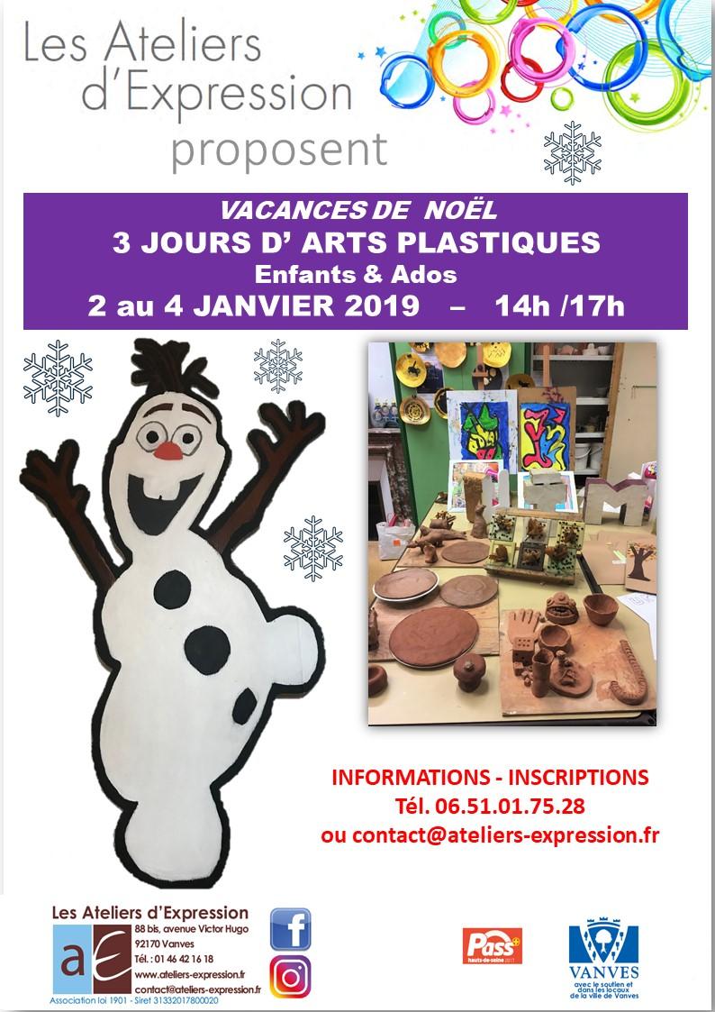 Affiche stage AP Noël 2018