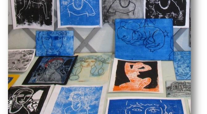 DESSIN – SEANCE A THEME  «Initiation à la gravure»